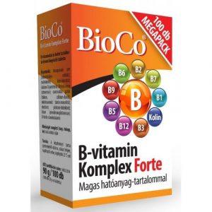BioCo B vitamin komplex forte tabletta 100 db