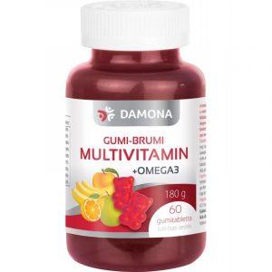 DAMONA Gumi-Brumi + omega 3 tabletta gyermekeknek 60 db