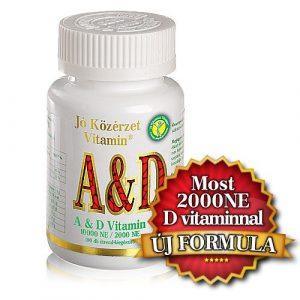 Jó közérzet A & D vitamin lágyzselatin kapszula 100 db