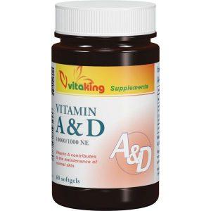 Vitaking A & D vitamin kapszula 60 db