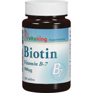 VITAKING Biotin (B7 vitamin) 900 mcg tabletta 100 db