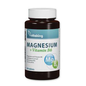 VITAKING Magnézium + B6 vitamin tabletta 90 db