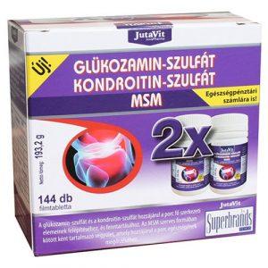 Jutavit Glükozamin + Kondroitin +MSM tabletta 144 db