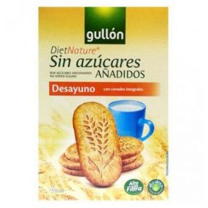 Gullón keksz teljes kiőrlésű gabonával 216g