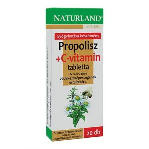 Naturland Propolisz + C vitamin tabletta 20db