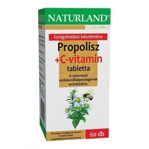 Naturland Propolisz + c vitamin tabletta 60db