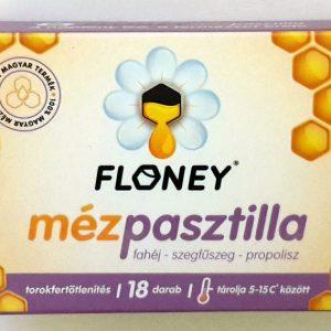 FLONEY Mézpasztilla fahéj-szegfűszeg-propolisz 18db