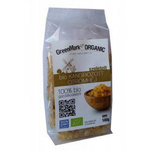 Greenmark Bio kandírozott citromhéj 100g