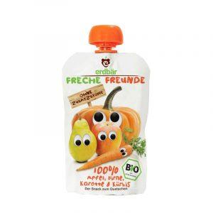 Bio alma, körte, sárgarépa, sütőtök gyümölcspüré 100g