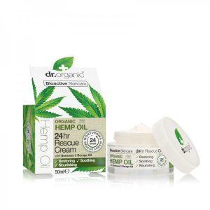 Dr. Organic 24 órás elsősegély krém bioaktív kendermagolajjal 50 ml
