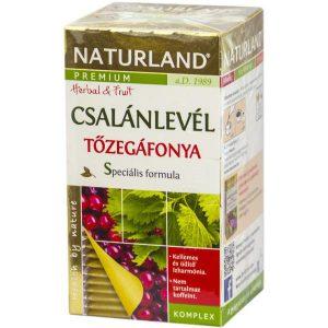 Naturland Tőzegáfonya csalánlevél tea 20 db filter
