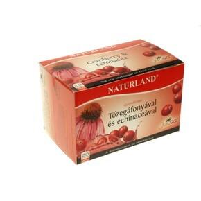 Naturland gyümölcstea Tőzegáfonya – echinacea 20 db filter