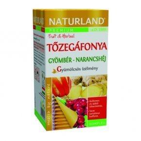 Naturland Tőzegáfonya – gyömbér – narancshéj gyümölcsös ízélmény tea 20 db filter
