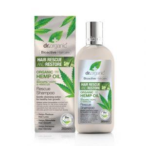 Dr. Organic hajserkentő sampon, hajnövekedést segítő bioaktív kendermagolajjal 265 ml