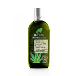 Dr. Organic  sampon és hajkondicionáló 2 in 1 bioaktív kendermagolajjal 265 ml