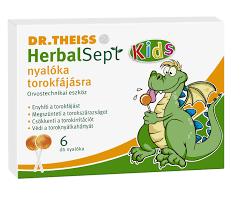 DR.THEISS HERBALSEPT NYALÓKA TOROKFÁJÁSRA 6 DB