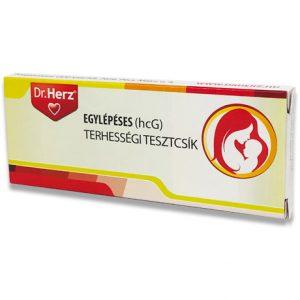 DR.HERZ EGYLÉPÉSES(10 MLU/ML HCG) TERHESSÉGI TESZTCSIK 1DB